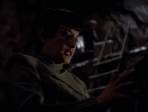 Sakonna tries to mind meld with Dukat to get information from him, but it doesn't work