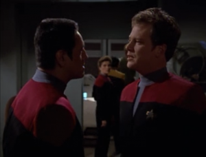 Paris is still getting in trouble with Chakotay