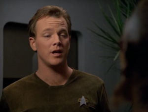 Paris decides to leave Voyager and join a Telaxian ship. Yeah right