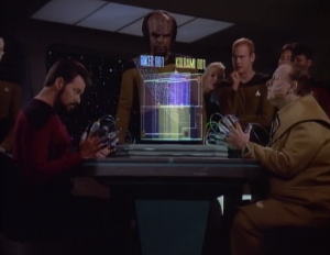 Riker challenges him to a strategy game because the Zakdorn is supposed to be one of the best