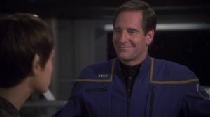 Archer asks T'Pol on a date but he says he'll be a perfect gentleman so that supposed to make it not as weird