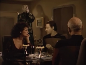 Picard gets Data to bail him out
