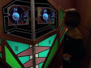 B'Elanna convinces the dreadnought that it's in the Delta quadrant, not fighting Cardassians like she programed it to do
