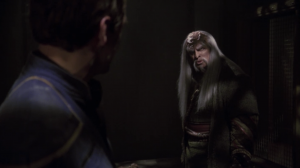 Kolos seems like a defeated man. He talks about how the Klingon Empire used to be different