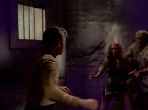 """He locks Kirk up with two of the """"Yangs,"""" who are all violent"""