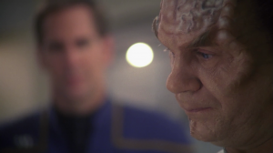 If a character has to go through the stages of being assimilated, Phlox was a good choice. Billingsley does a good job