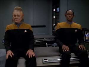 Before you is one of the worst characters in Voyager and one of the best, and I'm pretty sure the writers aren't on the same page as us as to who is which
