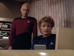 Pulaski says Riker could die! So already we know it's going to be one of those episode where we just have to wait for the doctor to find the cure