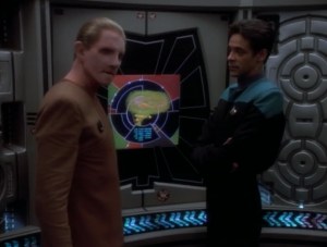 Garak has an implant that's messing with him
