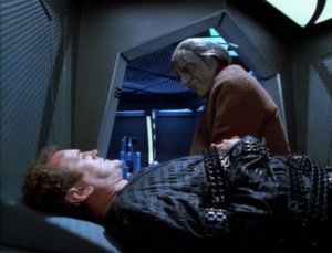 A guy comes and explains how Cardassian trials provide a show for people, and give them assurance that they live in a just and ordered society. O'Brien keeps asking everyone what the charges are against him. I get that the charges don't matter since he's already found guilty, but why not just tell him?