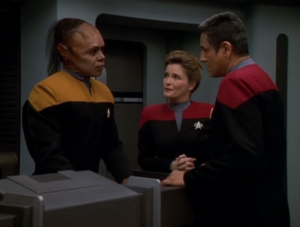 Several times in the episode we're told Tuvix is better at specific things and in general than either Neelix or Tuvok. We're told that because Tuvix went off of a hunch he solved some problem Tuvok was never able to solve. I never liked the hunch vs. logic dichotomy. I'm pretty sure Tuvok would test theories. Tuvix also shows up to work earlier than Tuvok. Not sure why