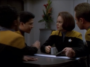 People start thinking of a plan to contact the Vidiians