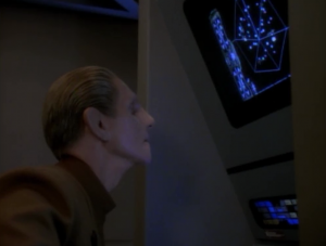 Odo has become fixated by a nebula in the Gamma quadrant. He wants to go see it now and forget about all the important stuff going on