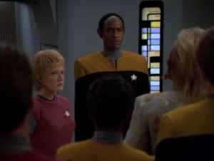 Kes talks with Tuvok in a way that's not completely obnoxious like Kim did, and Tuvok is convinced to try talking with the vidiians