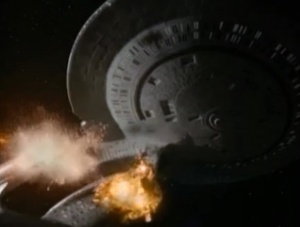 They send in some big guns to get Sisko, but as they're retreating the Jem'Hadar crash into it and destroy it!