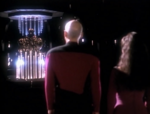 Picard meets with the Sheliak, but it doesn't go well