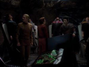 Odo and Kira get the door open and we find out everyone was just going through a simulation