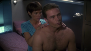 T'Pol and Trip have their first Vulcan neuropressure session.