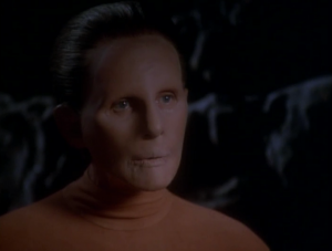 Odo's people are the founders! Odo asks if everyone can leave and she says okay