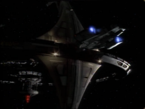 Sisko brings a new ship back to the station to fight the dominion!