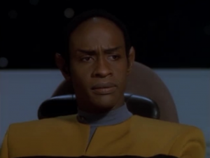 The vidiians might have a cure for the disease, but contacting them is too dangerous and Janeway orders them not too. Paris gets mad at Tuvok for not feeling as rotten as everyone else