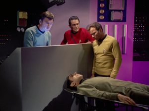 They think maybe Spock would be really helpful with this so the hook up his vocals