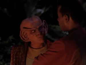 Quark makes fun of how the federation acts like they're tolerant, but it's only tolerant of species that remind them of themselves