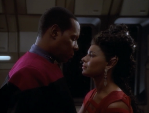 """In """"Second Sight"""" Sisko has a thing for another man's wife's telepathic psycho-projection."""