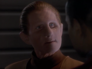 Odo resigns, kind of like he did last time Starfleet wants him to work with a Starfleet security guy