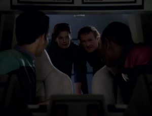 Dax and O'Brien met with the founders and convinced them that they wanted peace. They all get back to DS9 and negotiations begin