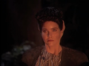 A lady shows up and says she's running from the Jem'Hadar