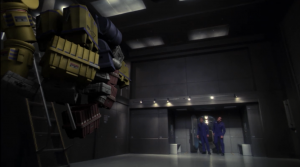 Some cargo sticks to the wall. Whatever is happening, I guess it doesn't effect Archer and Trip who are a few feet away. They explain that certain areas of the expanse are worse in terms of anomalies
