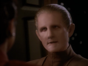 Kira tries to make Odo feel better by pulling some strings to have Odo go on the mission to the Gamma quadrant. It just makes him angry