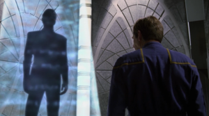He speaks to a shadow from the future that tells Archer that it was the Xindi, and that they are being led by a faction from the future that is against both his faction and the federation