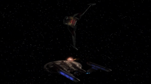 Duras attacks, but they're too close to earth and get help from other earth ships