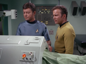 Yup, they seriously steal Spock's brain. Kirk only has 24 hours to get it back!