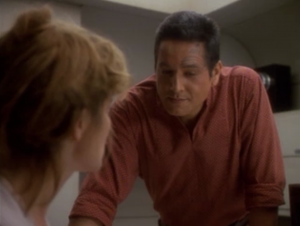 I like the dilemma Janeway and Chakotay face: to give up trying to find a cure and start living your life, or keep trying to find a cure when it could be for nothing