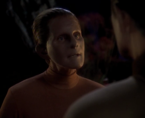 The female changeling says they sent out a hundred infants to bring back knowledge of the universe. Odo is the first to return, 300 years earlier than expected. They genetically implanted a desire to return home