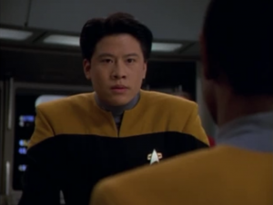 Kim argues with Tuvok on the bridge because Tuvok avoids the Vidiians. He even tries to summon everyone else on the bridge to join his side in arguing against Tuvok.