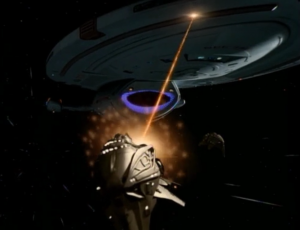 To get to the baby, Voyager has to travel through space that has Kazon not allied to anyone and who will attack without provocation. But the series of attacks always result in them attacking the same section of the ship