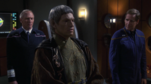 Soval warns Archer about a mission to go after the Xindi. They figure out that the live somewhere in the Delphic expanse, a region of space where ships are lost, where dangerous aliens live, and crazy things happen that go against the laws of nature