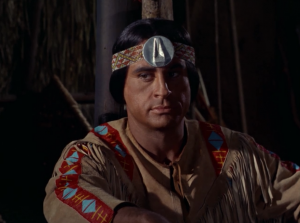 Everyone believes he's a god except the medicine chief who has a really cool headband
