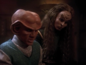 Quark finds out that the brother has been lowering the value of their property to slowly ruin the house. This isn't considered to honorable to the Klingons