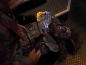 A drunk Klingon accidentally stabbed himself