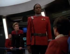 Tuvok objects to disobeying Starfleet orders by making an attempt to rescue Kirk and Bones
