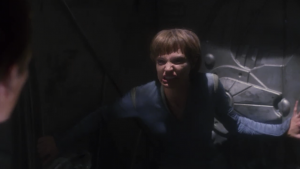 T'Pol starts to look like gollum. The trellium-D makes Vulcans lose their minds!