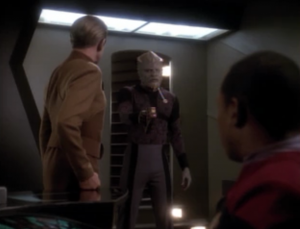 Starfleet orders the kid to be taken somewhere to see if they can learn anything about the Jem'Hadar. The kid decides he would rather just leave.