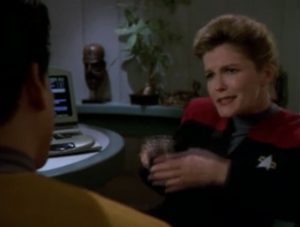Janeway talks about the difference between the old days of Kirk and now