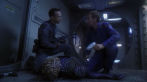 The Xindi get Rajiin back, but one of them goes down