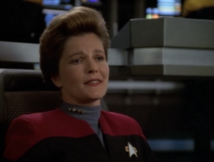 This reminds Janeway of the times she would sneak past her parents. Janeway, this is serious! People could die!